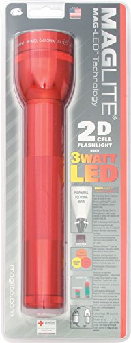 Cell Red Flashlight - Maglite LED 2-Cell D Flashlight, Red