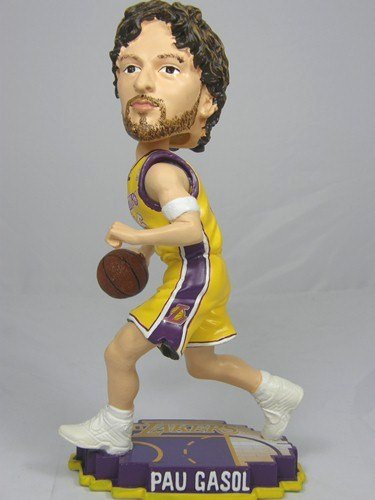 - Pau Gasol Los Angeles Lakers #16 Court Base Bobble Head- Home