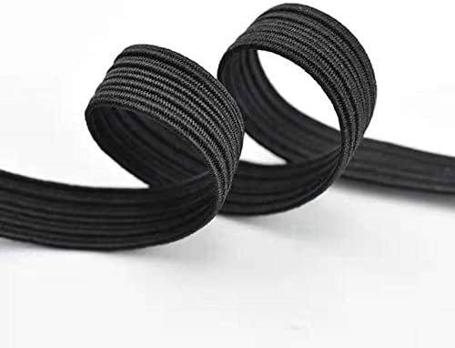 Black Elastic Bands for Sewing 70-Yard Length 1//4 Width Braided Elastic Cord//Elastic Elastic Band//Elastic Rope//Bungee//Black Heavy Stretch Knit Elastic Spool
