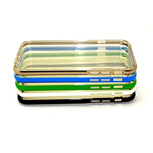 """iPhone 6S 6 Case, or iPhone 6S Plus Soft Case, [5Pack / Lot] Colorful Soft Bumper Slim Clear Transparent Back Cover Case Flexible Silicone Back Case Cover (4.7"""" Size: Gold, Green, Blue, White, Black)"""
