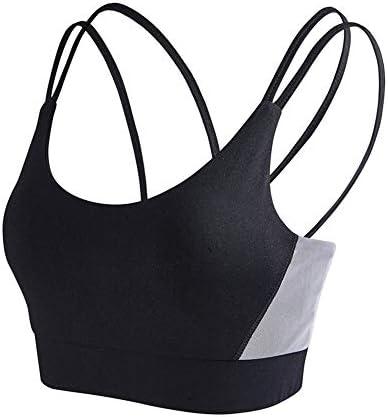 レディースジャージ上下セット 女性パッドセクシーで ヨガとランニングハイインパクトのためのスポーツブラ (Color : Black, Size : S)