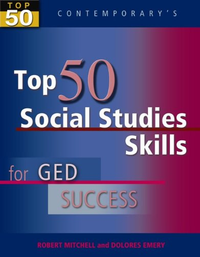 Top 50 Social Studies Skills for GED Success, Student Text Only (GED Calculators)