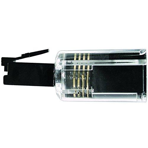 (Handset Cord Detangler Black / Clear Barrel Type)