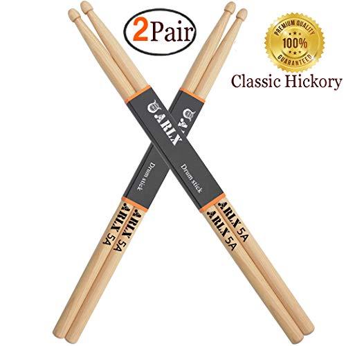 Drum Sticks 5A Classic Hickory Drumstick (2Pair Hickory)