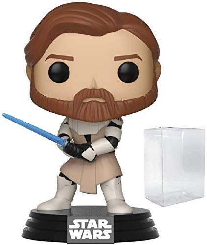 Star Wars: Clone Wars - Obi Wan Kenobi Funko Pop! Vinyl Figure (Includes Compatible Pop Box Protector Case)