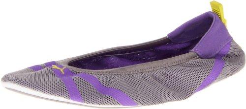PUMA Women's Axel Ballet Flat,Opal Gray/Purple/Yellow,7 B (Puma Athletic Flats)