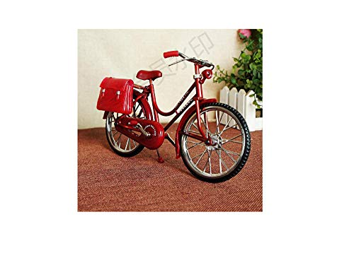 Old - Fashioned Bicycle Design Inflatable Lighter Desktop Furnishing Articles Lighter (Red)]()