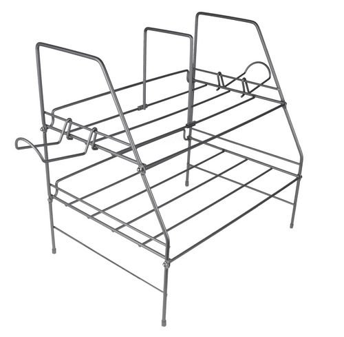 Atlantic Game Depot Wire Gaming Rack Acero Plata - Bandeja de escritorio (Acero, Plata, 260,4 x 593,9 x 381 mm (10.2 x 23.4 x 15