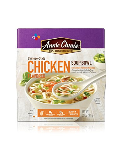 Annie Chun's Chicken Soup Bowl with Hokkien Noodles, Chinese-Style, 5.7-oz (Pack of 6) (Best Rated Chicken Soup)