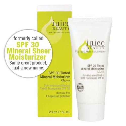 Juice Beauty SPF 30 Sheer Zinc Sunscreen Moisturizer with Vitamin E, 2 Fl Oz
