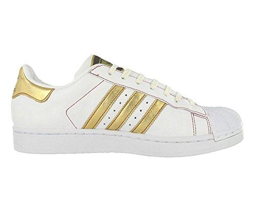 adidas superstar 2 uomini bianchi / oro / scarpa rossa della moda