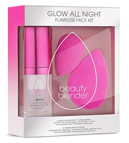 beautyblender Glow All Night Flawless Face Kit, Makeup Sponge Set for Foundations, Powders Creams