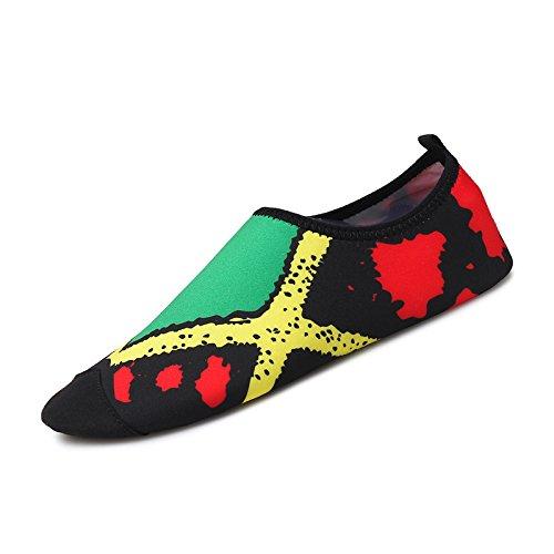rápido piel suaves Lucdespo descalzos la natación zapatos niño parejas Secado cuadrado 1 calzados de de yoga para verde deportes Running fitness padre el de SK cuidado qqf658