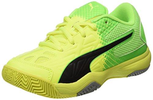 Puma Evospeed Indoor 5.5 Jr, Botas de Fútbol Unisex Niños Amarillo (Safety Yellow-puma Black-green Gecko-quarry 04)