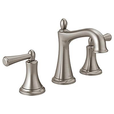 Delta Rila 8 inch Widespread 2-Handle Bathroom Faucet in SpotShield Brushed Nickel