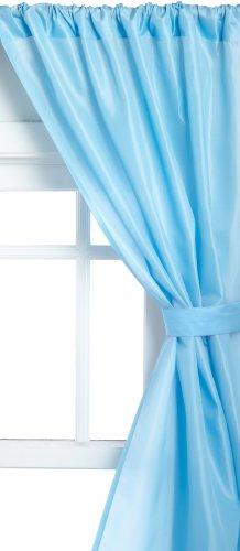 Fabric Curtain Window Bathroom (Carnation Home Fashions Fabric Bathroom Window Curtain, Light Blue)