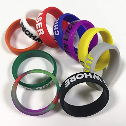 Silicone Protective Bands Ring Cover Bumper Band Rings (Solid Color 21mm, 10 Pack)