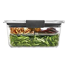 Rubbermaid Brilliance Salad Lunch Storage Container, Medium Deep, 4.7 Cup, 100% Leak-Proof, Plastic, Clear