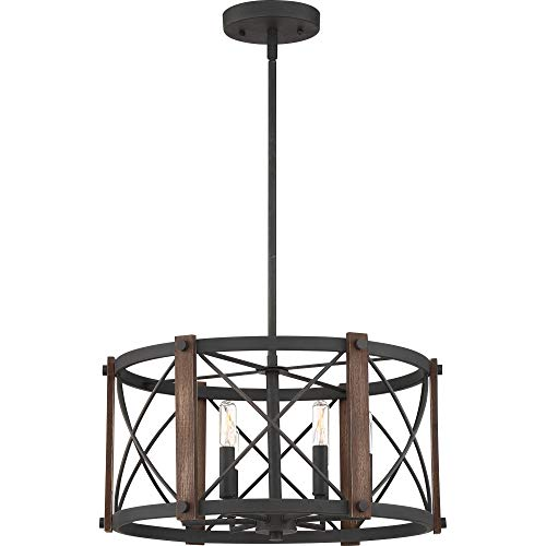 Quoizel BRO2820MK Baron Pendant, 6-Light 360 Total Watts, Marcado Black ()