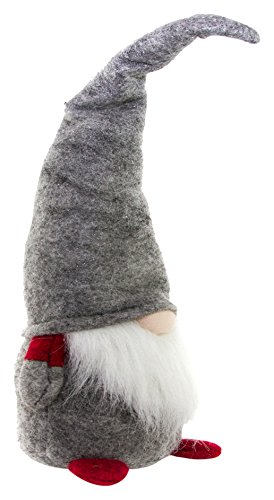 Christmas Ornament Garden Gnome (Handmade Christmas Gnome Ornaments For Men, Women & Kids | Well Crafted Luxury Figurines Set For Home Décor, New Year's Eve Parties, Personalized Gifts, Table Centerpieces, Garden & More- Grey)