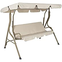 Best ChoiceProducts Outdoor 2 Person Canopy Swing Glider Hammock Patio Furniture Backyard Porch