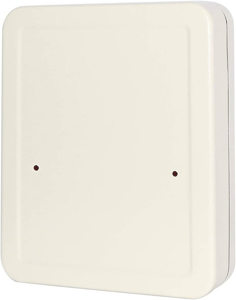 White 7 4//5 x 6 1//5 x 2 4//5 Small Adjustable Wall Mount Key Lock Cabinet Security Metal Key Box with 20 Hooks YSH001S