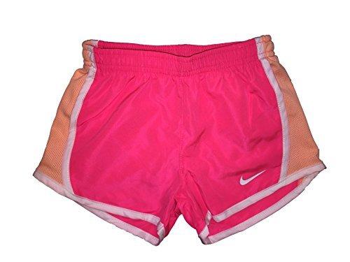 NIKE Girls' Dry Tempo Running Shorts (Racer Pink (267358-A4F)/White/Team Orange, 2T)