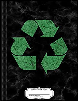 Flippin Sweet Books - Vintage Recycle Logo Composition Notebook: College Ruled 9¾ X 7½ 100 Sheets 200 Pages For Writing