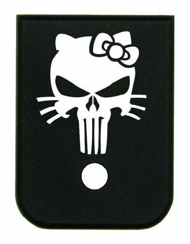 Magazine Base Floor Plate for Glock Pistols - 9mm & 40 Hello Kitty Skull