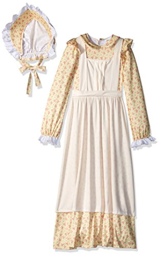 California Costumes American, Pioneer, 19th Century, Oregon Trail, Little House Prairie Girls Costume, Yellow, Medium