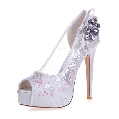 Pink US6 Blue Gold Peep EU36 amp;Amp; UK4 CN36 Shoesstiletto Evening Red Ivory Toe Sandals Black Women'S Wedding White Heel Party Ra4wvqP
