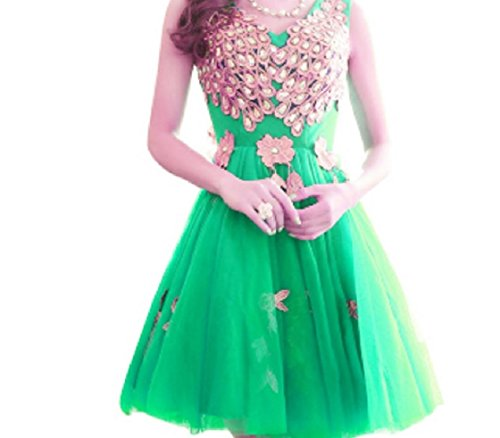 Green Party Patchwork Popular Neck Lace Dress V Gowns Coolred Rhinestone Evening Women FP0gqS