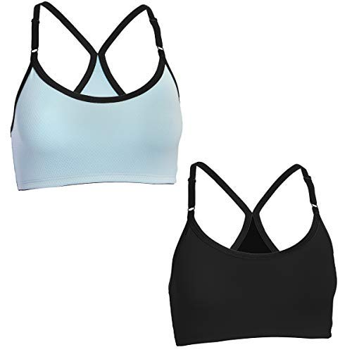 (Fruit of the Loom (2 Pack) Sports Bras For Women, Racerback Bra, Strap Sports Bra, Wirefree Bra, Workout Clothes For Women, Womens Underwear)