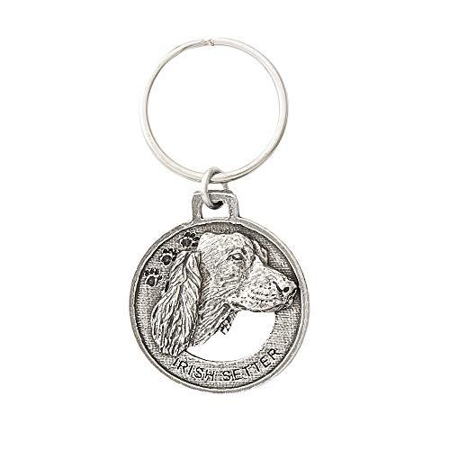 Irish Setter Dog Pewter Key Chain, Key Fob, Key Ring, Gift, D100KC