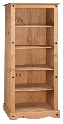 Corona Tall Large Bookcase Light Fiesta Wax Mercers Furniture Trade