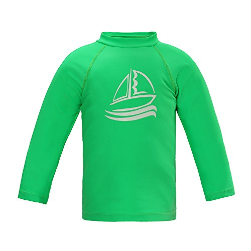 Boys' Long Sleeve Rashguard Surf Swim Shirt UPF 50+ Sun Protective Outdoor Swimwear, Green 6