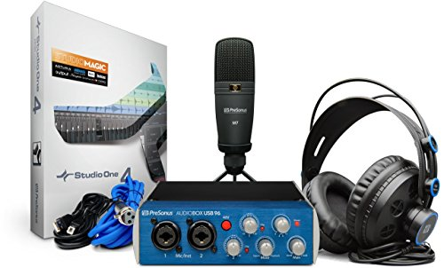 Recording Bundle - PreSonus AudioBox 96 Studio USB 2.0 Recording Bundle with Interface, Headphones, Microphone and Studio One software