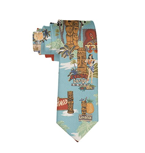 Tiki Tie - SWEET TANG Men's Gift Fashion Ties Neck Tie Skinny Ties - Tiki Aloha