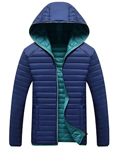 Dark Outwear AngelSpace Parka Oversize Mens zip Full Blue Warm Lightweight Hooded Down 4g46qaw