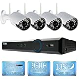 Lorex 4 Channel Wireless Security System with 500GB Hard Drive, 4 480TVL Cameras, and 90/135 Night Vision