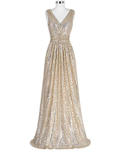 Kasin Kate per Figura intera ballo Oro paillettes KK0199 donne nuziale vestito delle 1wSwqB
