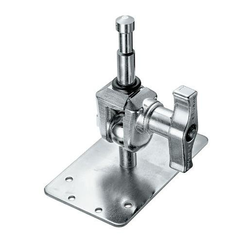 Avenger 3'' Chrome Baby Wall Mounting Plate with a 5/8'' Spigot that Swivals 360° x 180°. by Fuji