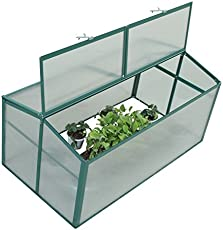 outsunny aluminum vented cold frame greenhouse 52 inch