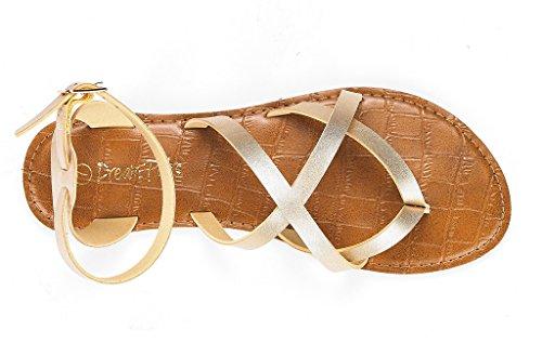 DREAM Safari Gold Women's PAIRS Sandal Flat r6Szrwq