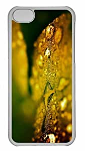 Customized iphone 5C PC Transparent Case - Wet Leaf Bokeh Personalized Cover