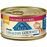 Blue Buffalo Healthy Gourmet Canned Cat Food, Flaked Salmon Entrée, (Pack of 24 3-Ounce Cans), My Pet Supplies