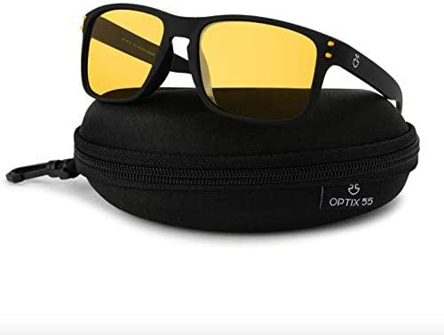 Optix 55 Polarized Glasses for Men & Women – Night Vision/Sun Glasses with PC, Rubber Frame & REVO Coating Sports Sunglasses
