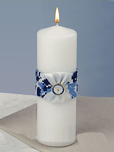 tary Wedding Collection Navy Camouflage Unity Candle ()