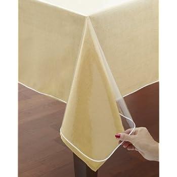 Amazon Com Clear Vinyl Tablecloth Protectors Hemmed