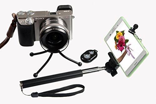 extra long durable selfie stick kit with tripod by shutterstix for iphones sams ebay. Black Bedroom Furniture Sets. Home Design Ideas